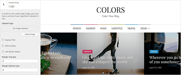 Colors - Simple Blog & Magazine WordPress Theme - 13  Download Colors – Simple Blog & Magazine WordPress Theme nulled colors customization logo