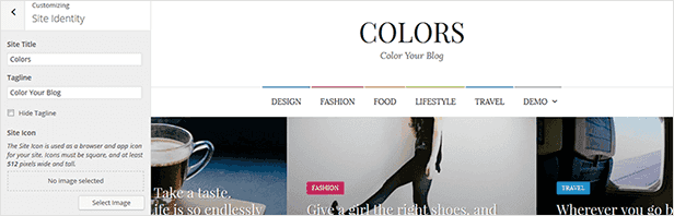 Colors - Simple Blog & Magazine WordPress Theme - 11  Download Colors – Simple Blog & Magazine WordPress Theme nulled colors customization title tagline