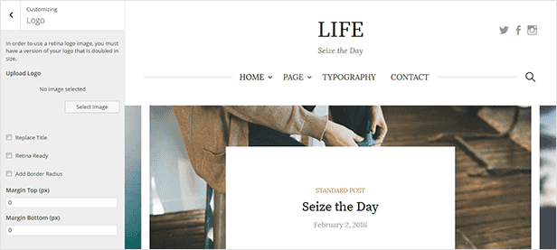 Life - Simple WordPress Blog Theme