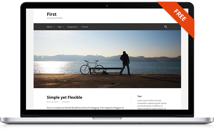 First WordPress Theme