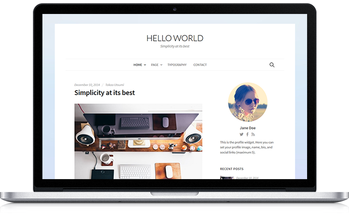 Hello World WordPress Theme