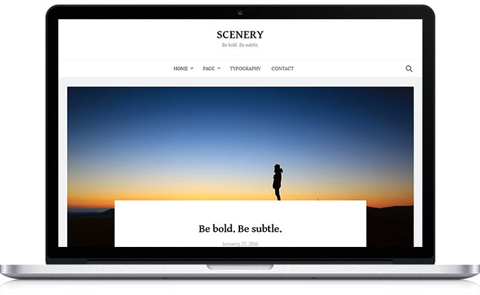 Scenery WordPress Theme