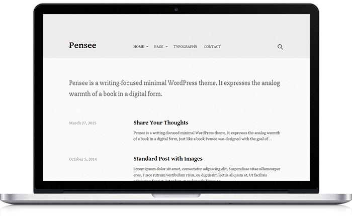 Pensee WordPress Theme
