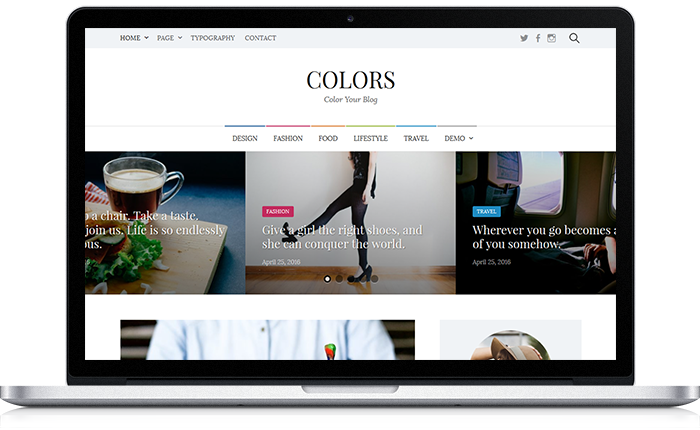 Colors WordPress Theme